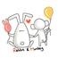 rabbit&monkey